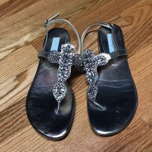 Super bling betsey Johnson sandals 9 so gorgeous